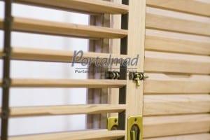 janela com veneziana móvel - Madeira - Portalmad - janela com veneziana articulada