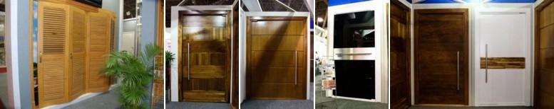portas de madeira de entrada - macicas - decorativas externas