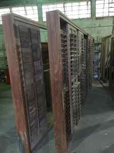 veneziana articuladas - palheta móvel - esquadrias de madeira - Portas