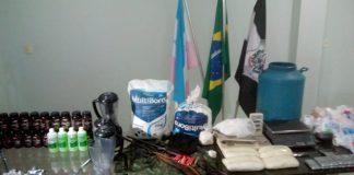 """Dois são presos por causa da """"Fabrica de cocaína"""" em Guarapari"""