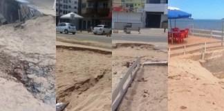 """Turistas reclamam que a orla de Piúma em nada melhorou, mesmo depois de """"melhorias"""""""