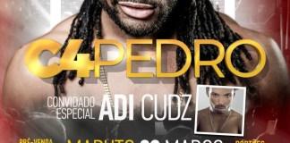 Vão se realizar nos dias 3 de Março em Maputo e 4 de Março em Nampula o Mega Show de C4 Pedro e sua Banda, com a participação especial do Adi Cudz. O show de Maputo terá lugar na Sexta-Feira,
