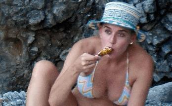 Após flagra de Katy Perry, Gretchen diz que não quer ser associada a cantora que come frango assado em praia, Os cliques não pareceram intimidar a popstar.