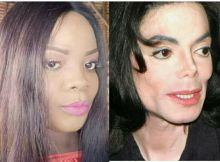 Internautas zombam da cara da Lourena Nhate por se parecer com Michael Jackson Entretanto, na foto ela aparece com excesso de maquilhagem e comentários