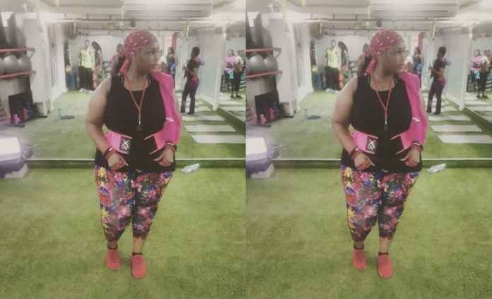 A cantora moçambicana Júlia Duarte comemorou o seu regresso ao ginásio para lutar contra o excesso de peso depois de uma pausa devido ao nascimento do seu primeiro filho