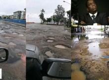 O estado das estradas na cidade da Beira, em Sofala, é precário e em algumas vias já não há condições para circular, Daviz Simango