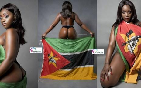 A cantora moçambicana, Yolanda Boa pode pegar uma pena de até seis meses por ter se vestido de uma maneira indecente e depois com um Símbolo Nacional