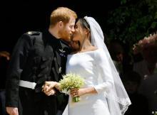 O príncipe Harry, sexto na linha de sucessão ao trono britânico, e a ativista e atriz norte-americana Meghan Markle casaram-se hoje na capela de Saint-Georg