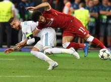 Envolvido no lance que originou a lesão no ombro de Salah, o zagueiro Sergio Ramos usou as redes sociais para desejar boa recuperação ao atacante