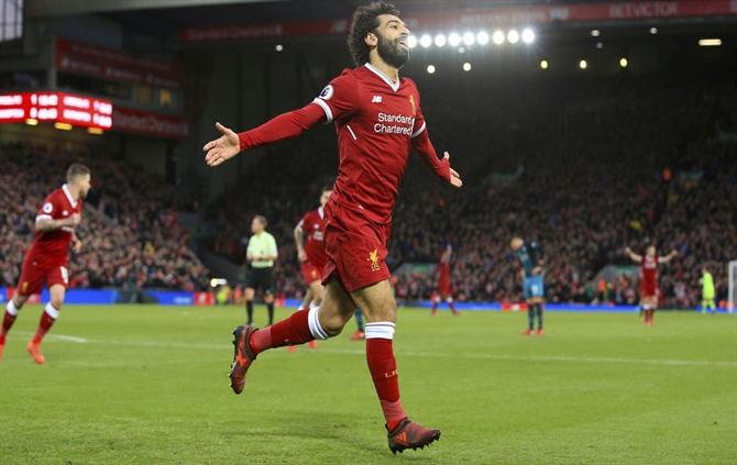 O Salah já não está receber tratamento para o ombro. Neste momento só tem de melhorar a condição física e temos a certeza que ele vai estar apto para o jogo