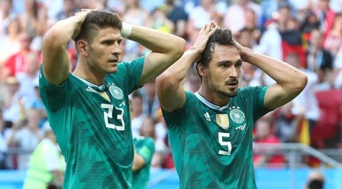 A campeã mundial Alemanha foi esta quarta-feira eliminada do Mundial 2018, ao perder por 2-0 com a Coreia do Sul, em Kazan, em partida da 3.ª jornada do G F