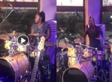 A cantora Lourena Nhate publicou recentemente nas redes sociais um curto vídeo em que surge a tocar bateria. Trata-se na verdade de uma teste de som