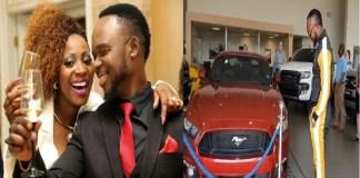 A cantora moçambicana Liloca foi às redes sociais felicitar o companheiro, Mr Bow pela aquisição do novo carro Mustang GT 2018