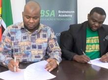 O Projecto Âncora assinou com a Brainstorm Academy, BSA, um memorando de entendimento que visa oferecer 100 bolsas de estudo para formação aos estudantes do ensino médio