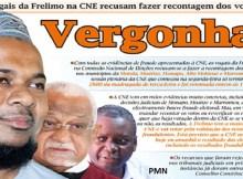 Com todas as evidencias de fraude apresentadas a CNE, os vogais da Frelimo na Comissão Nacional de Eleições recusam-se a fazer a recontagem dos votos