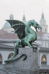 The Dragon Bridge in Slovenia, symbolizing the Road of Trials on the Hero's Journey