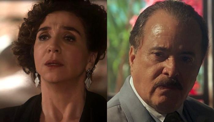 Celeste Hermínia (Marisa Orth) e José Augusto (Tony Ramos) em Tempo de Amar