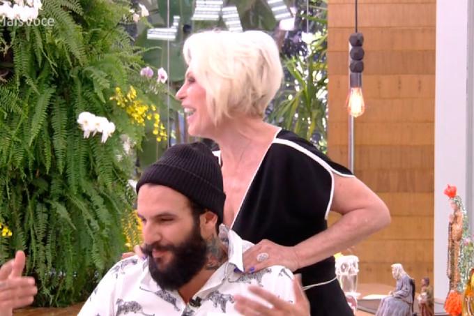 Wagner do BBB18 tomou café da manhã com Ana Maria Braga (Reprodução/Rede Globo)
