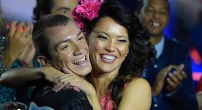 Geovana Tominaga foi quem ganhou o Dancing Brasil 3 (Reprodução/Record)