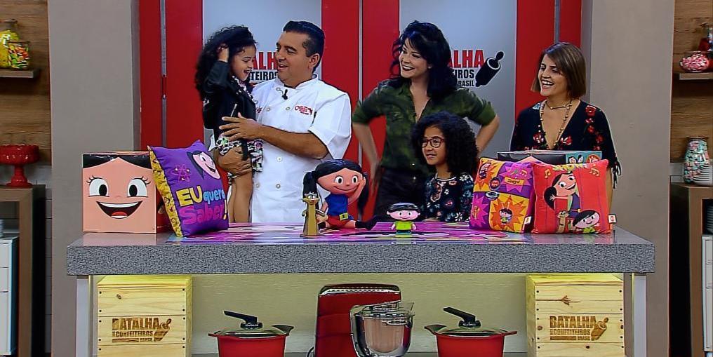 Batalha dos Confeiteiros recebe a atriz Samara Felippo e filhas (Divulgação/Record)