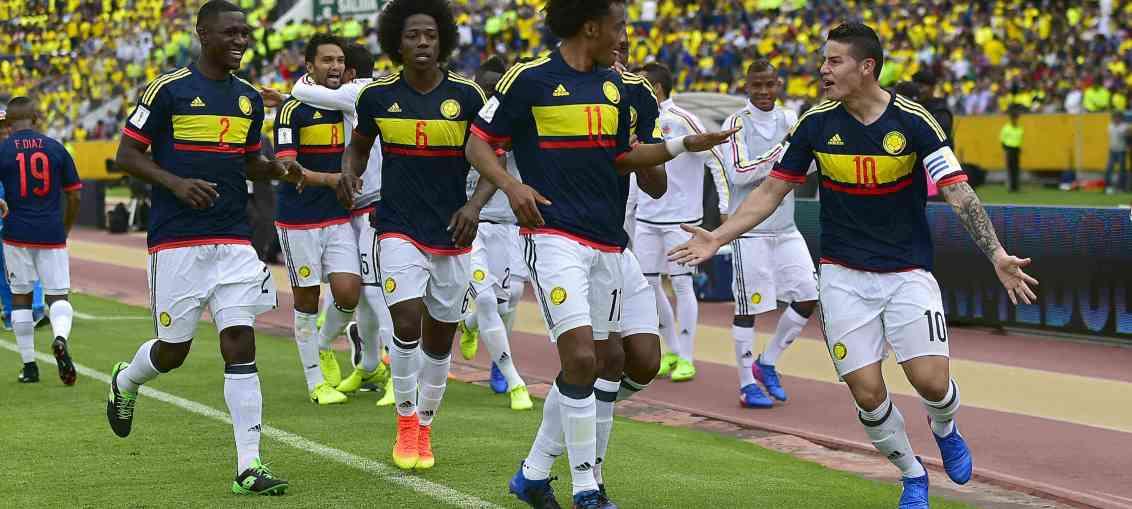 Seleção da Colômbia (Foto: Reprodução)