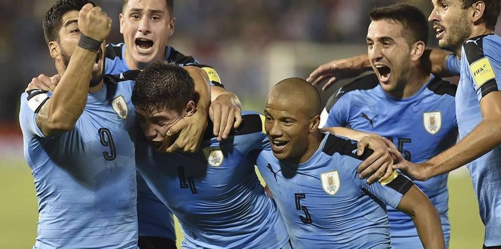 Seleção do Uruguai em campo (Foto: Reprodução)