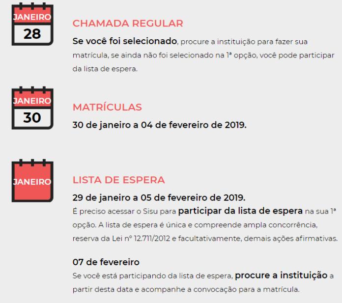 RESULTADO SISU 2019
