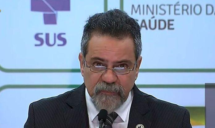 O secretário-executivo da Saúde, Elcio Franco