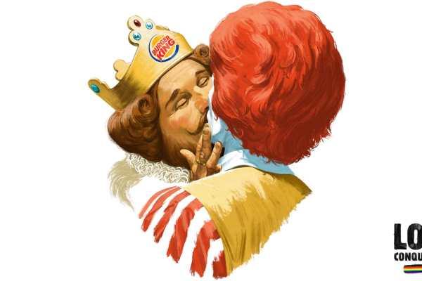 Burger King celebra a diversidade dando um beijo no MC Donald's