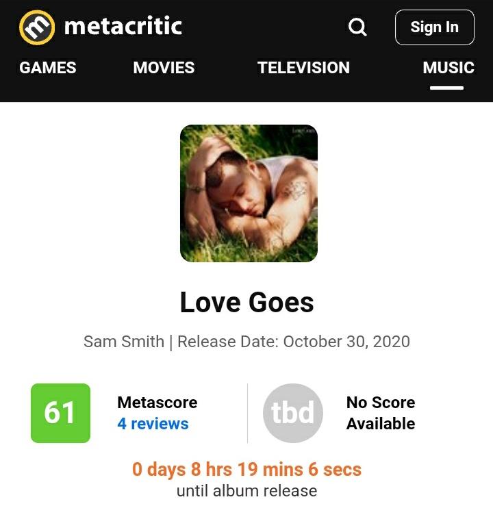 """Novo álbum de Sam Smith não agradou muito aos críticos especializados, confira as primeiras criticas de """"Love Goes"""":"""
