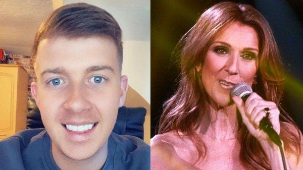 Céline Dion (à esq.) e Céline Dion (à dir.) (Foto: Reprodução)