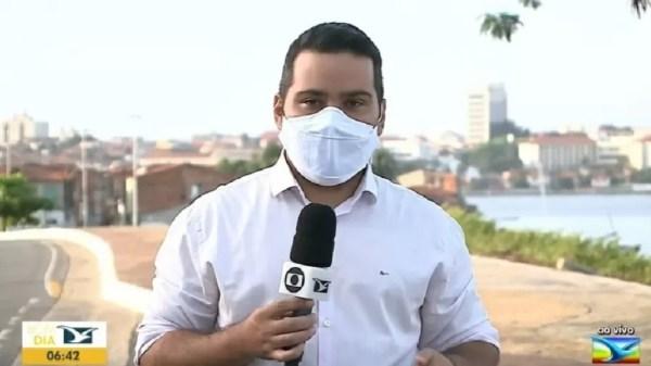 Repórter da Globo Olavo Sampaio ao vivo tv mirante