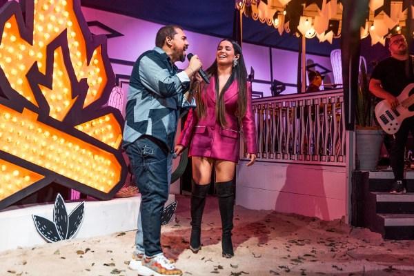 Com participação de Juliette, Xand comemora sucesso de live de São João
