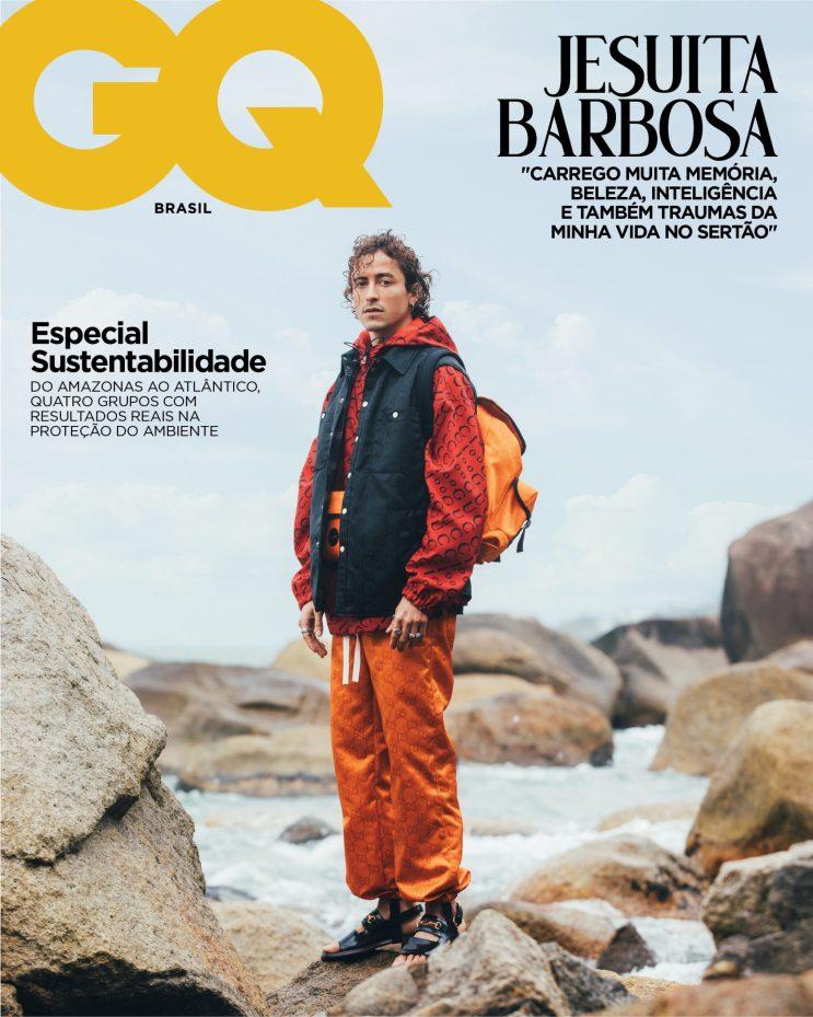 Capa da GQ Brasil de outubro de 2021, com Jesuita Barbosa (Foto: Gleeson Paulino)