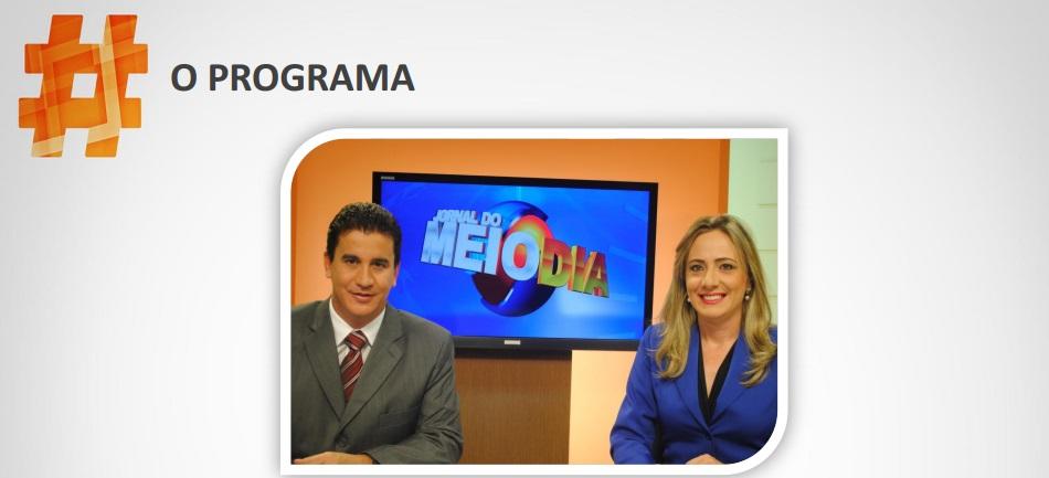 Jornal do Meio Dia sob comando de Jordevá Rosa e Luciana Finholdt,
