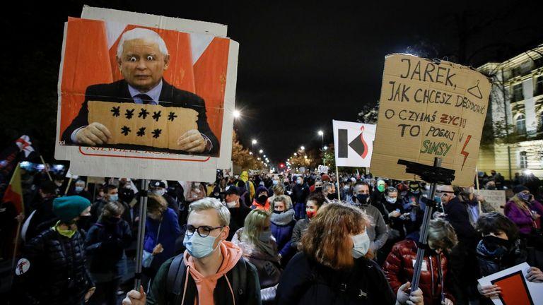 Protes aborsi Warsawa