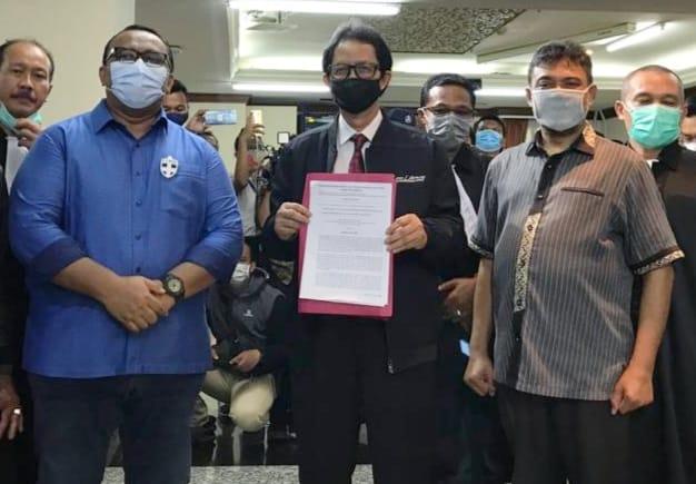Pimpinan Organisasi Buruh Sampaikan Pernyataan Sikap Menolak UU Cipta Kerja ke MK