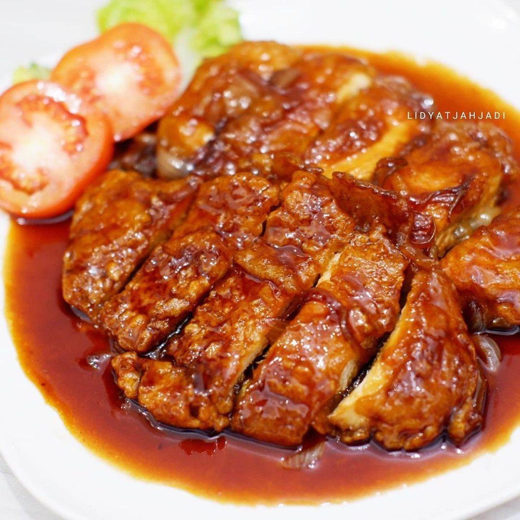 Posted @withregram • @lidyatjahjadi AYAM CRISPY SAUS INGGRIS  Selamat siang Ide menu yang enak …