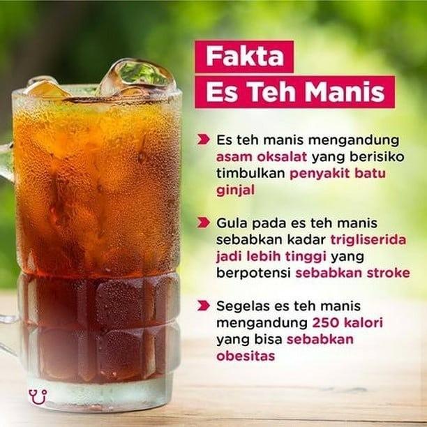 Info sehat, • • • • • • ﷽ Siapa yg suka minum es teh manis? …