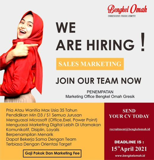 For detail info fast respon Call to 62812 31383893 recruitment information