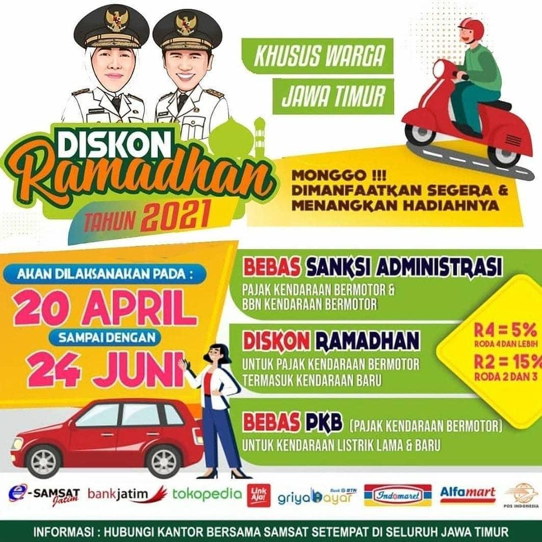 Khusus Warga Jawa Timur Mulai 20 APRIL – 24 JUNI 2021 Segera manfaatkan kebijakan Gubernur Jawa…