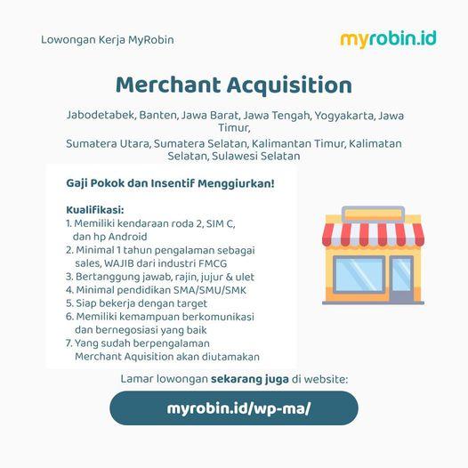 Lowongan Kerja Merchant Acquisition Warung Pintar Penempatan Jabodetabek Banten Jabar