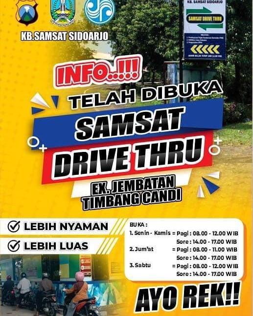 Monggo bayar pajak tahunan kendaraan anda di Samsat Drive Thru