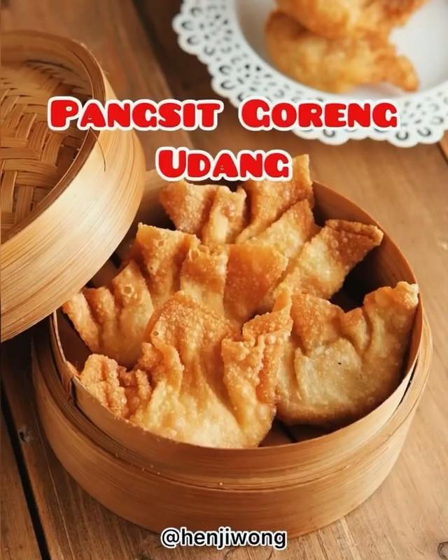 Info kuliner, Pangsit Goreng Udang Antimainstream nih, bukan dr ayam tp dari udanggg  Cr : @henjiwong…