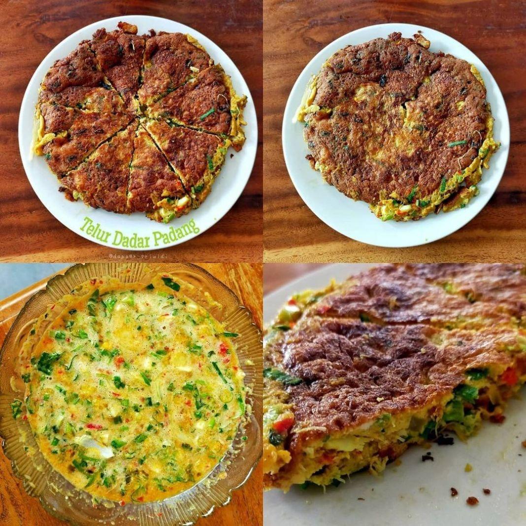 Info kuliner, Telur Dadar Padang Simpel serta pasti lezat nihh Bahan : 7 btr telur 3 btg daun bawang, iris 3 bt…