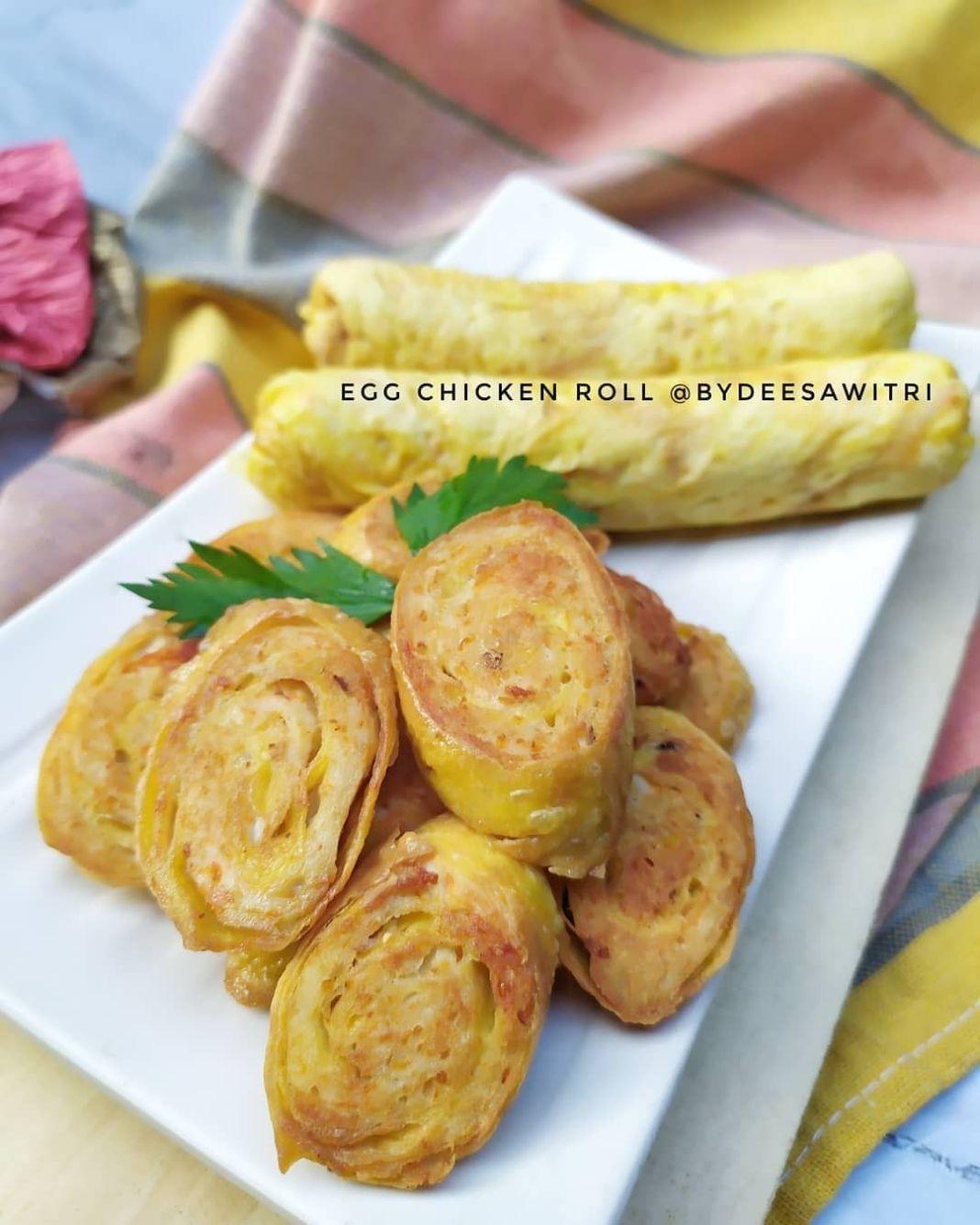 Info kuliner, EGG CHICKEN ROLL Menu favorit kalo ke restoran jepang, sekarang coba untuk dirumah   made @bydee…