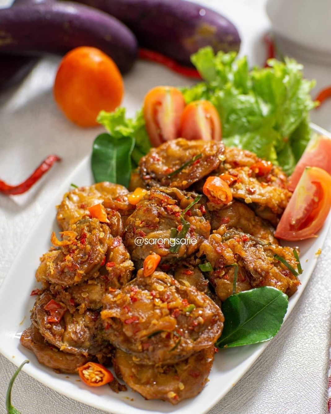 Info kuliner, TERONG RAOS Kalian suka sayur terong nggaa? enak loh serta mengandung serat serta vitamin c serta k…