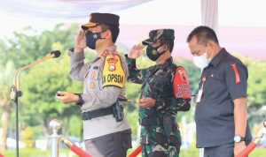 Forkopimda Jatim Apel Gelar Pasukan Ops Ketupat Semeru 2021