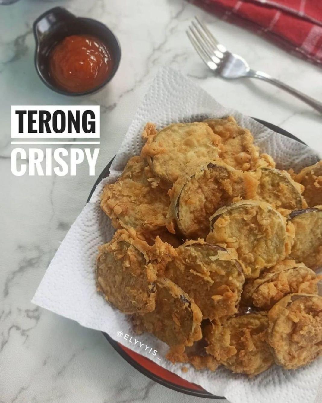 Info kuliner, gak cuma ayam yg crispy tp terong juga dapat  Terong Crispy ala@elyyyis_  Bahan : 1 terong ukur…