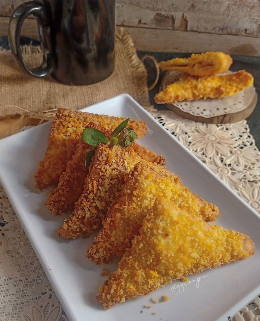 Info kuliner, Broodje Kaasworts konon ialah sanwinchnya orang belanda yang isinya roti tawar dengan isian so…
